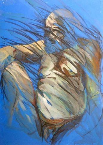 Adriano Petrucci, acrilico e fusagine su tela, cm 80  110 cm, 2007