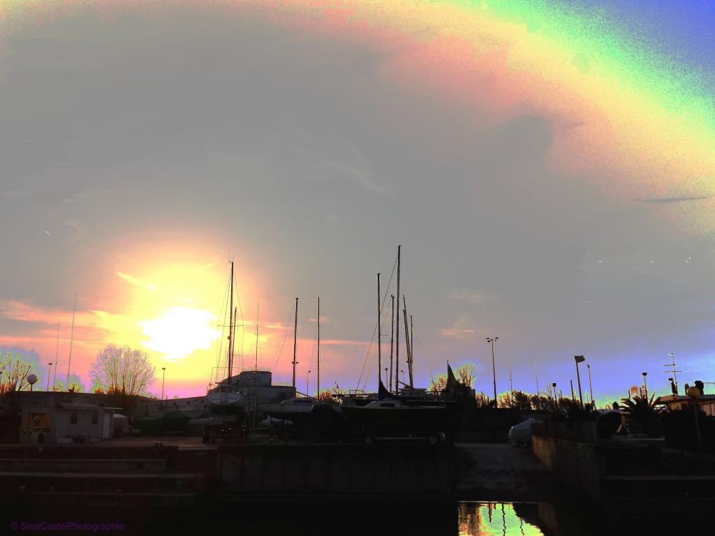 arcobaleno sul porto